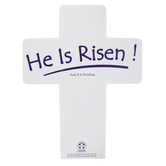 Worthwhile Productions, He Is Risen Cross Yard Sign, White and Purple, 22 x 17 1/2 inches
