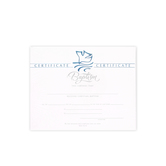 Warner Press, Dove Embossed Baptism Certificates and Envelopes, 8 1/2 x 11 inches, Set of 6