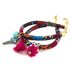 Radiant Sol, Fabric Bracelets with Charms, Cotton and Zinc Alloy, Assorted Colors, 2 Pieces