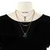 Radiant Sol, Gold Cross with Tassels and Beads Layered Necklace Set, Iron and Glass, Assorted Chain Lengths