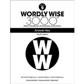 Wordly Wise 3000 4th Edition Answer Key 9, Paperback, Grade 9