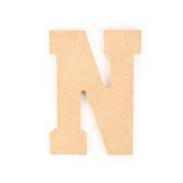 Woodpile Fun, MDF Natural Wood Color Letter - N, 5 inches, Brown