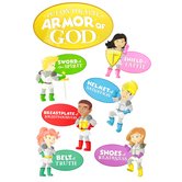 Renewing Minds, Armor of God Bulletin Board Set, 7 Pieces