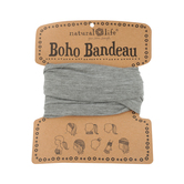 Natural Life, Heather Grey Boho Bandeau, Polyester/Rayon, Grey, 13 x 10 1/4 inches