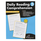 Chalkboard Publishing Workbooks, Daily Reading Comprehension, Paperback, 120 Pages, Grade 3