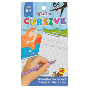Carson-Dellosa, My Take-Along Tablet: Cursive Activity Pad, Paperback, 64 Pages, Grades 3-5