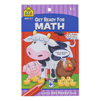 School Zone, Little Get Ready Book, Get Ready for Math, 48 Pages, 5.25 x 8.50 Inches, Grades K-1