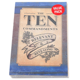 Salt & Light, The Ten Commandments Gospel Tracts, 5 1/4 x 3 1/2 inches, Set of 50 Tracts