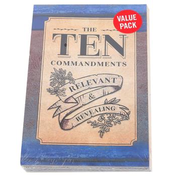 Salt & Light, The Ten Commandments Gospel Tracts, 5 1/4 x 3 1/2 inches, Set of 50 Tracts