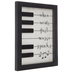 Open Road Brands, When Words Fail Music Speaks Wall Decor, MDF and Glass, White and Black, 10 x 8   x 3/4 inches