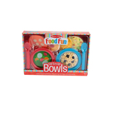 Melissa & Doug, Food Fun Fill 'Em Bowls, Plastic, 12 Pieces, Ages 3 and Older