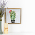 Designs Direct Creative Group, Pincushion Cactus Framed Art, MDF, 12 x 12 x 5/8 inches