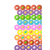 Superheroes Collection, Mini Incentive Stickers, Multi-Colored Stars, Pack of 1050