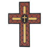 Dicksons, Man of God Tabletop Cross, Resin, Brown and Gold, 5 3/8 x 4 x 1 1/8 inches