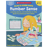 Scholastic, Play & Learn Math: Number Sense Workbook, 64 Pages, Grades K-2