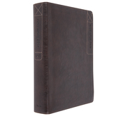 NLT Every Man's Large Print Bible, Imitation Leather, Rustic Brown, Thumb Indexed