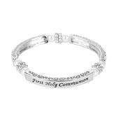 H.J. Sherman, First Holy Communion Stretch Bracelet, Metal, Silver, One Size
