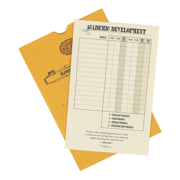 A Simple Plan,  Elementary Report Card, Vintage with envelope