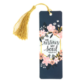 Salt & Light, Psalm 23:3 He Restores My Soul Tassel Bookmark, 2 1/4 x 7 inches
