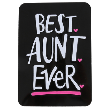 Open Road Brands, Best Aunt Ever Magnet, Black, White, and Pink, 5 x 3 1/2 inches