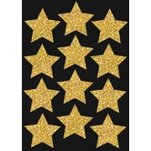 Ashley, Gold Sparkle Stars Die-Cut Magnets, 3 inches, Set of 12