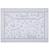Brother Sister Design Studio, Happy Thanksgiving Coloring Placemats, Set of 12