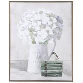 White Hydrangeas & Bird Wood Wall Decor, MDF, 19 5/8 x 15 3/4 x 3/4 Inches