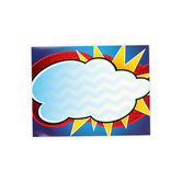 Superheroes Collection, Customizable Classroom Blank Chart, 17 x 22 Inches, Red Yellow Blue Cloud