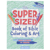 Rose Publishing, The Super-Sized Book of Bible Coloring & Art, Paperback, 11 x 8 Inches, 256 Pages