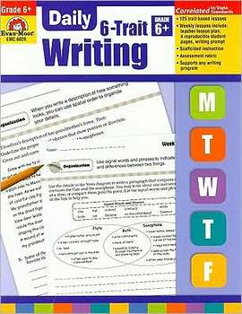 Evan-Moor, Daily 6-Trait Writing Teacher's Edition, Paperback, 160 Pages, Grade 6
