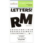 Renewing Minds, Black Bulletin Board Letters, Uppercase, 2 Inches, Black, 110 Pieces