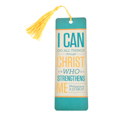 Salt & Light, I Can Do All Things Tassel Bookmark, 2 1/4 x 7 inches
