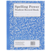 Spelling Power Blue Student Record Book
