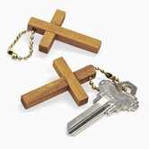 Fun Express, Wooden Cross Keychains, Bag of 12