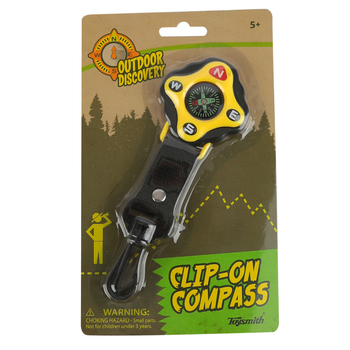 Toysmith, Outdoor Discovery: Clip-On Compass, Ages 5 and Older
