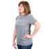 Crazy Cool Threads, Grace Wins, Women's Short Sleeve T-Shirt, Heather Gray, Small