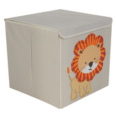 Lion Cube Storage Bin, Fabric, 13 inches
