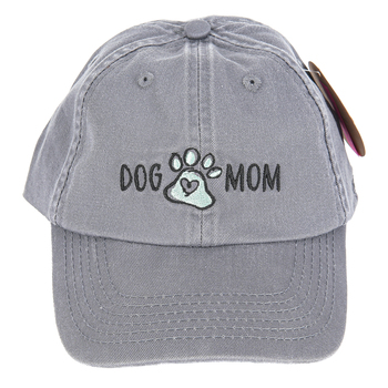 Open Road Brands, Dog Mom Ball Cap, Teal & Gray, One Size Fits Most