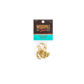 Tree House Studio, Brass Plated Iron Cup Hooks, 1 inch, 6 pieces
