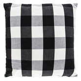 Black and White Buffalo Check Square Pillow, Polyester and Cotton, 20 x 20 x 6 inches