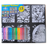 Creative Platypus, Nature Velvet Fun Poster Value Set with Markers, 12 Poster Set, 1 Set