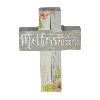 Carson Home Accents, Mothers Are A Blessing Table Cross, MDF, 5 x 3 5/8 x 1 inches