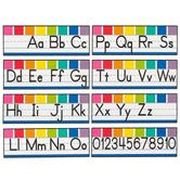 Schoolgirl Style, Hello Sunshine Alphabet Line: Manuscript Mini Bulletin Board Set, Grades PK-2