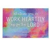 Renewing Minds, Colossians 3:23 Whatever You Do Certificates, 8.5 x 5.5 Inches, Multi-Colored, Pack of 30