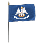 Annin Flagmakers, Louisiana State Flag, Polyester, 8 x 12 inches
