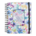 SoulScripts, Psalm 16:8 I Shall Not Be Shaken Journal, Spiral-Bound Polycover, Watercolor Floral, 6 1/2 x 8   1/2 inches, 140 pages