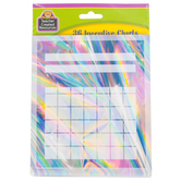 Teacher Created Resources, Iridescent Mini Incentive Charts, 5.25 x 6 Inches, 36 Sheets