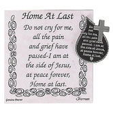 H.J. Sherman, Home At Last Tear Drop Pocket Reminder, Pewter, 1 x 1 1/4 inches