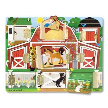Melissa & Doug, Magnetic Farm Hide & Seek Board, Ages 3 to 5 Years Old, 1 Piece