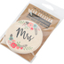 Carson Home Accents, Mrs Floral Car Coaster, Absorbent Stoneware, 2 3/4 inches